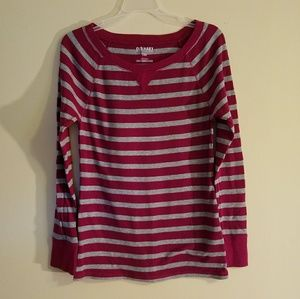 Old Navy striped long-sleeve shirt